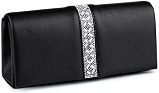 1pc Black Eco Leather Clutch/Formal Evening Purse with Rhinestones, Bags, Handbags, Clutches, Fashion Accessories