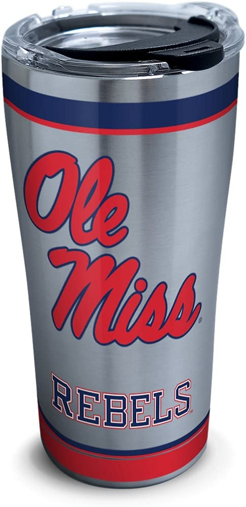16 oz Tervis NCAA Mississippi Old Miss Rebels Legend Coffee Mug With Lid Clear