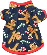 Ninasill Pet Apparel, ღ ღ Pet Dog Puppy Christmas Autumn Winter Warm Pullover Embroidered Clothes Coat (L, Blue)
