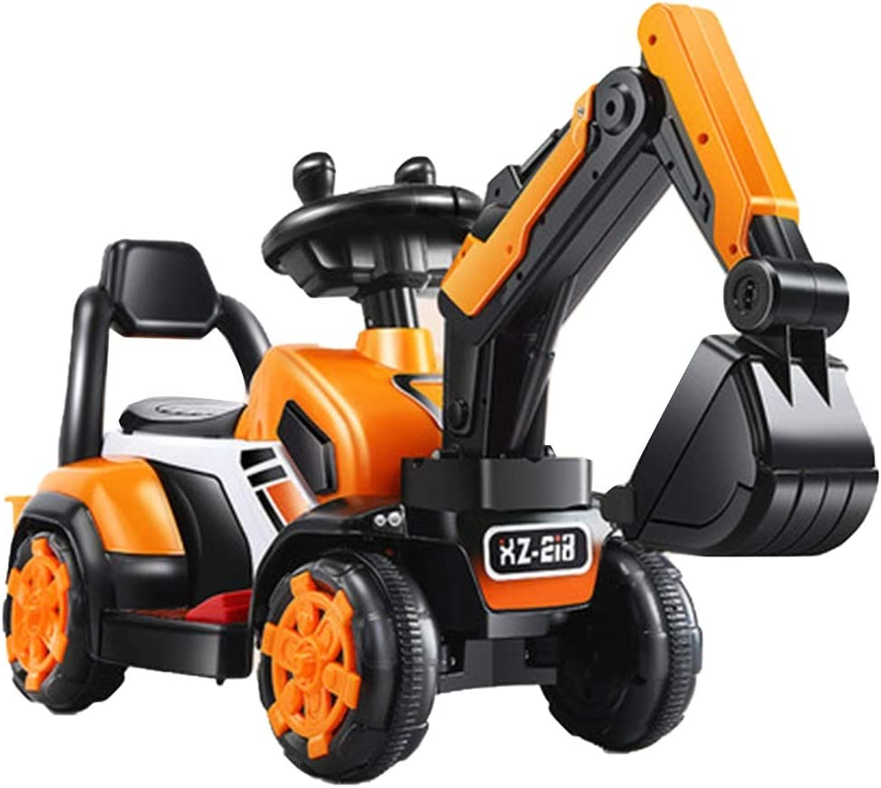 Car Toy Toy Rc Vehicles Children S Excavator Electric Engineering Vehicle Sliding Toy Cars Extra Large With Music Boys And Girls Gifts Color Orange Size 763448cm Home Kitchen Amazon Com