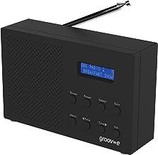 Groov-e GVDR03BK Paris Portable DAB/FB Digital Radio with 20 Preset Stations, LCD Display, Dual Alarm Clock & 3.5mm Headph...