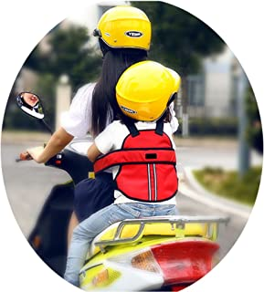 Vine Kinder Einstellbar Motorrad Gurt Kinder Sicherheitsgurt für Motorrad Kinder Gurte für Elektro Auto/Fahrrad(Rot)