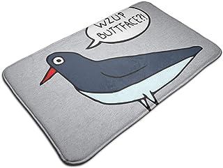 HUTTGIGH Wzup Buttface - Felpudo antideslizante para puerta de entrada de baño, cocina, alfombra de 19,5 x 31,5 pulgadas a...