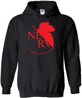 95Vibes The Nerv Logo | Neon Genesis Evangelion Inspired Unisex Pullover Hoodie Men/Women