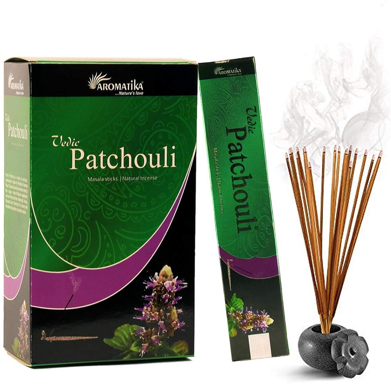 レイアベイビー揃えるaromatika Vedic Patchouli自然Masala Incense Sticks inパックof 12