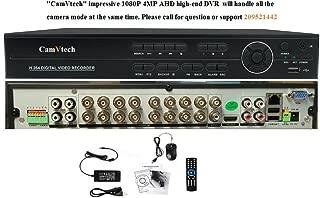 Camvtech Usa AHD 16 Channel 1080P Business Class Hisilicon Chipset Mix mode viewing 960Hx720Px960Px1080PxIPC-CVI/TVI, 2sata up 12Tb, Ptz, Cloud, P2P, Mobile Phone, Motion Detect