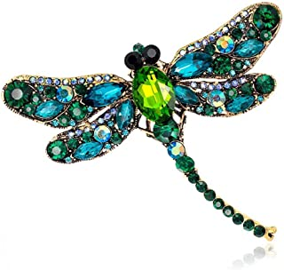 GLEEBROOCH Colorful Stone Leaf Brooches for Women Fashion Brooch Pin Elegant Jewelry Coat Accessories