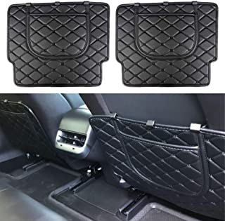 BASENOR Tesla Model 3 Car Seat Protector Mat Car Seat Back Kick Covers (Set of Two)