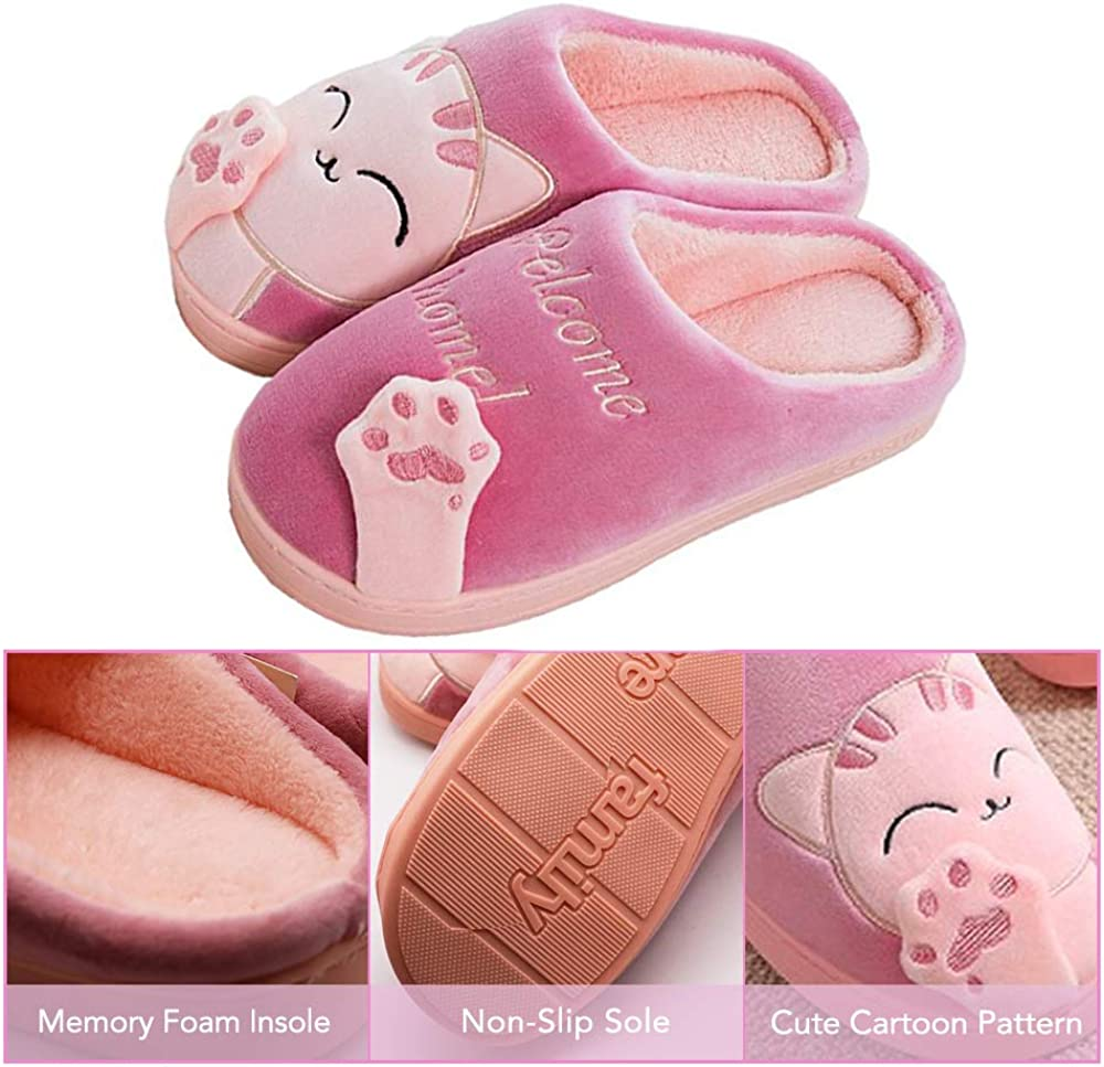 Womens /& Mens Comfort Memory Foam Slippers Breathable Fuzzy Slip on Clog House Shoes w//Indoor Outdoor Anti-Skid Sole