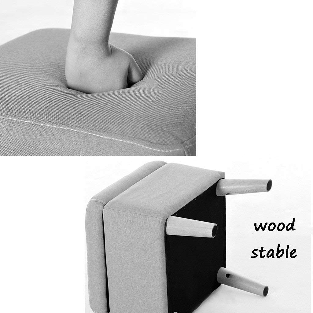ZHNA Tabouret Changement De Chaussures Tabouret Boîte De Rangement Cube Pouf Chaise Chaise avec Couvercle Repose-Pied en Bois pour Salon Couloir 40x40x42cm (Color : E) D