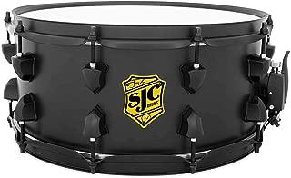 SJC Custom Drums Josh Dun Crowd Snare Drum - 6.5 Inches X 14 Inches Yellow Badge