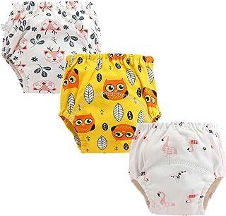 per allenamento a sei strati lavabile carino anti-perdite 4 confezioni unisex per neonati in cotone riutilizzabili Gemvie
