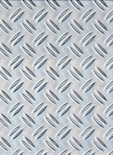 GAH-Alberts 466695 Strukturblech | Riffel-Prägung | Aluminium, natur | 120 x 1000 x 1,5 mm