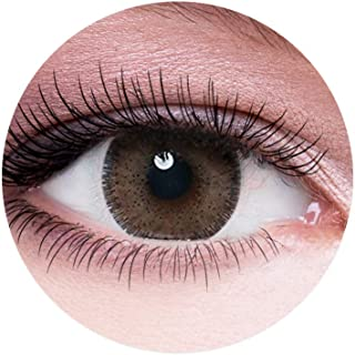 Dahab Unisex Cosmetic Contact Lenses, 9 Months Disposable- Platinum Collection, Dahab Argan (Hazel Color)