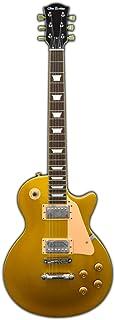 Glen Burton GE320-GLD Classic Single Cut Style Electric Guitar, Gold with Tan Pick