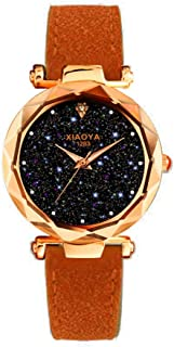 Hessimy Womens Fashion Watches New Ladies Business Bracelet Classic Luxury Exquisite Crystal Watch Casual Leather Band Teen Girls Gift Retro Analog Quartz Wrist Watches for Women On Sale