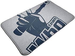 HUTTGIGH Team Who - Alfombrilla antideslizante para puerta con destornillador sónico (19,5 x 31,5 pulgadas)