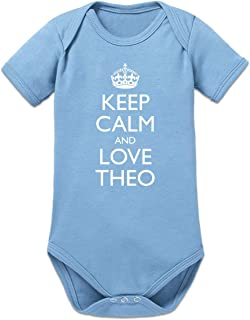 Shirtcity Keep Calm and Love Theo Baby Strampler by