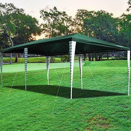 wolketon Pavillon Wasserdicht 3x6m Gartenpavillon Ohne Seitenteile Partyzelt Gartenzelt Grün UV-Schutz für Markt Camping Hochzeiten Festival