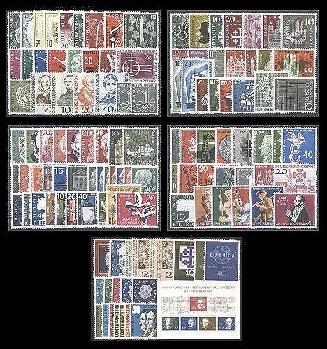 Goldhahn BRD 1955-1959 Sammlung postfrisch- Briefmarken für Sammler [Spielzeug]