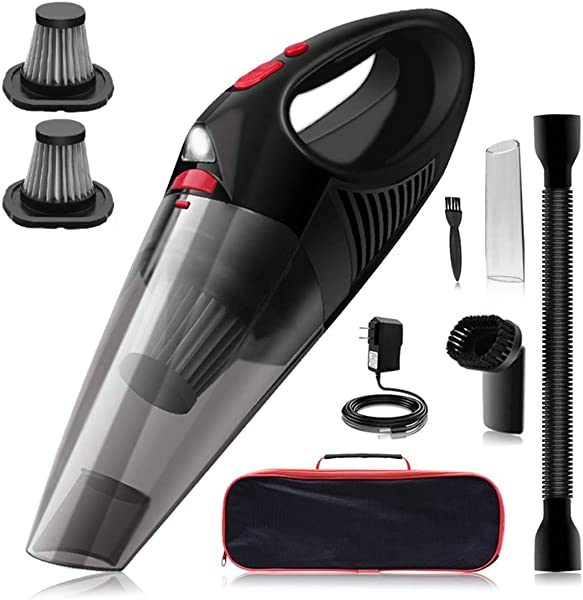 Kimitech Handheld Vacuum Cleaner With LED Light USB Charging Stainless Steel HEPA Cordless Handheld Vacuum Cleaner For Home Car