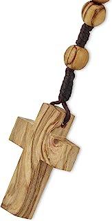 Auténtica madera de olivo católico rosario collar de Belé