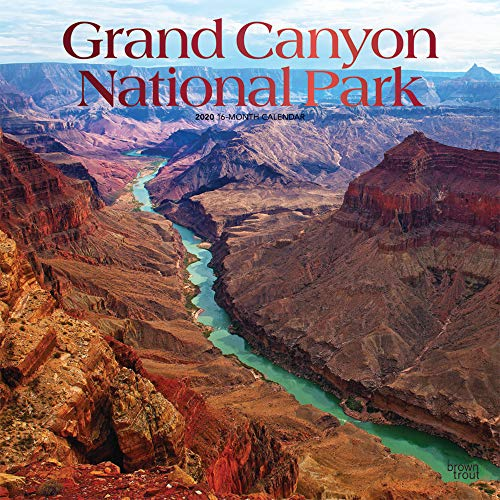 Grand Canyon National Park 2020 12 x 12 Inch Monthly Square Wall Calendar with Foil Stamped Cover, USA United States of America Scenic Nature