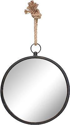 Stonebriar Espejo Redondo náutico para Pared con Lazo para Colgar, Round, Metal, Mediano, 1
