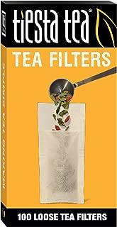 Tiesta Tea Loose Leaf Tea Filters, 100 Count, Disposable Tea Infuser for 100 Cups of Tea