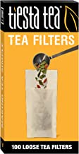 Tiesta Tea | Loose Leaf Tea Filters | 100 Count | Disposable Tea Infuser | 100% Natural Unbleached Paper | Steeps Tea and Coffee | Eco-Friendly | Single Serve Filter for a Cup of Tea