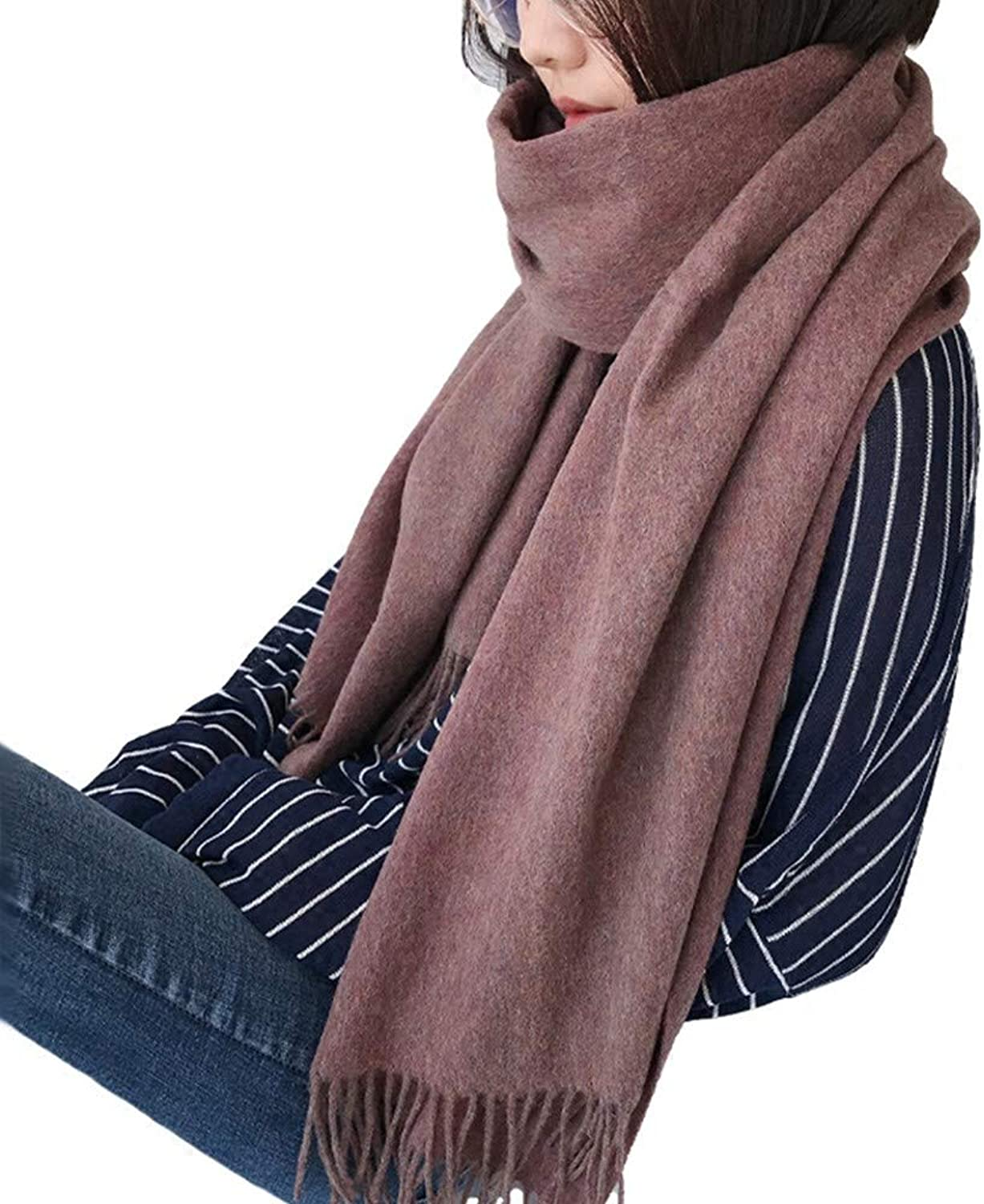 Hyy Scarf Scarf Autumn And Winter Students Keep Warm Collar Solid color Thick Shawl Female