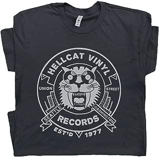 Vintage Record Store T Shirt Seattle Tee Cool Vinyl Album Player 70s 80s 90s DJ Rock Band Men Women Teen