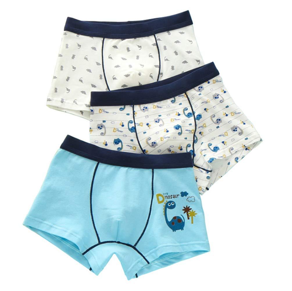 Age 2-10 Boys Pattern Trunks Underwear Cotton Shorty Boxer Briefs