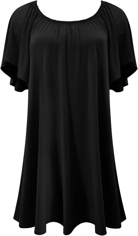 LUVAGE Women's Julie Off Shoulder Mini Dress Shirts