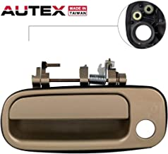 AUTEX Door Handle Exterior (Front Left Driver Side) Compatible with Toyota Camry 1992 1993 1994 1995 1996 77619, 69220-33020, 6922033020, TO1310109