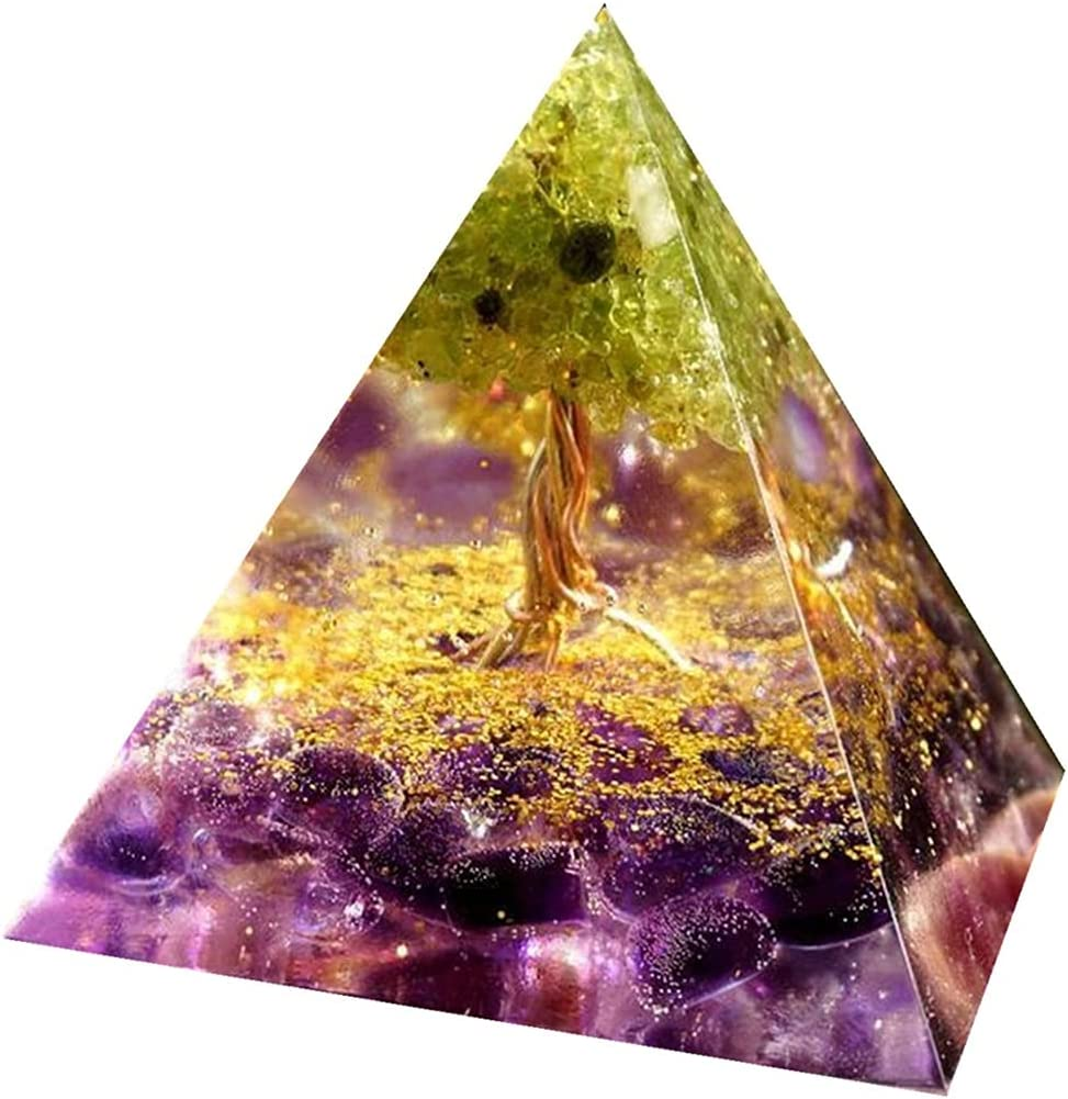 Orgonite Pyramid Handmade Amethyst Crystal Life of Orgone P Tree low-pricing Luxury goods