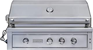 EdgeStar GRL420IBBNG 89000 BTU 42 Inch Wide Natural Gas Built-in Grill with Rotisserie and LED Lighting