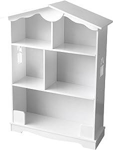 Casa Delle Bambole Scaffale Per Cameretta Legno Bambini Mobile Porta Giocattoli  Mobili In Legno Libreria Bianca