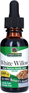 Nature's Answer Alcohol-Free White Willow Bark Extract, 1-Fluid Ounce Alcohol Free | Super Concentrated | Vegetarian, Non-GMO, Gluten Free Liquid