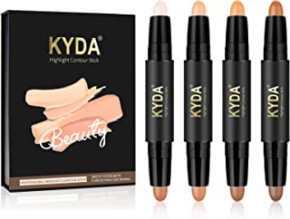 KYDA 8 Colors Highlight Concealer Contour Stick, 2 in 1 Body Makeup Shding Stick, Face Highlighters Sticks, Contouring Hig...