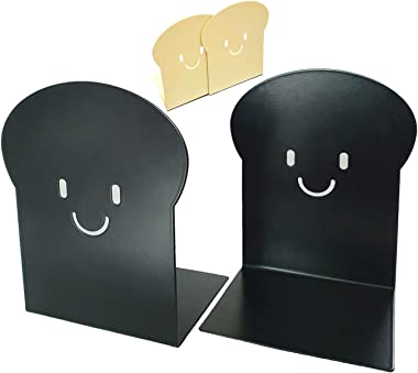 "FSGs - Bookends 7"", Burnt Toast Bookend. Heavy Duty Premium Metal Book Ends. Unique Fun Design for Office, Home, Kitchen, She"