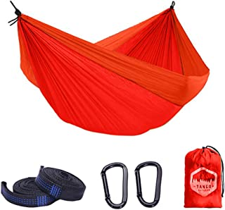 Tango Outdoor Portable Camping Hammock (Orange/Red) with Tree Straps (6 Loops) for Easy Set-Up - Australia Based, Lightwei...