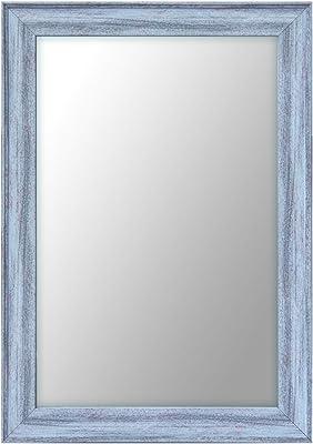 999Store Fiber Framed Decorative Wall Mirror or Bathroom Mirror Grey (20x14 Inches)