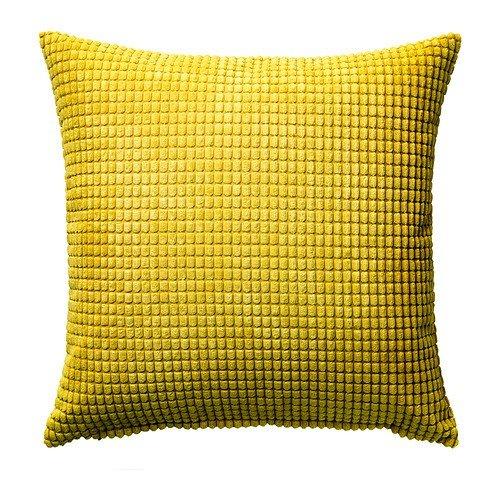 Ikea IKE-002.863.85 GULLKLOCKA - Funda de cojín (50 x 50 cm), Color Amarillo