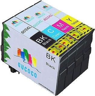 GUCOCO 4 Cartucce di ricambio compatibili con 603 XL con Expression Home XP-2100 XP-2105 XP-3100 XP-3105 XP-4100 XP-4105 X...