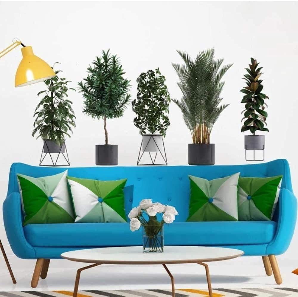 Wall Stickers 3D Los Angeles Mall Green Plants Aesthetics Posters Art Limited time trial price Potted Livi