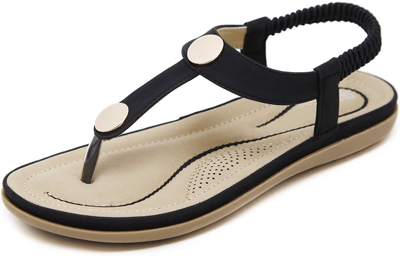Dear Time Ankle Strap Flip Flop Women Summer Beach Casual T-Strap Flats Thong Sandals