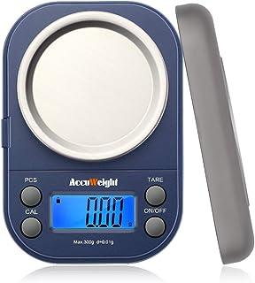 Accuweight デジタル 計量器 携帯タイプはかり 電子はかり スケール 電子秤 精密デジタルはかり 0.01g単位 300g 業務用 電子天秤 計測AW255 300g