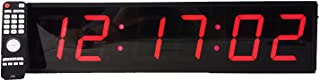 """Extra Large Digital Wall Clock - 4"""" LED Count Down/Up/Interval Timer/Stopwatch Remote Control Wall Clock"""