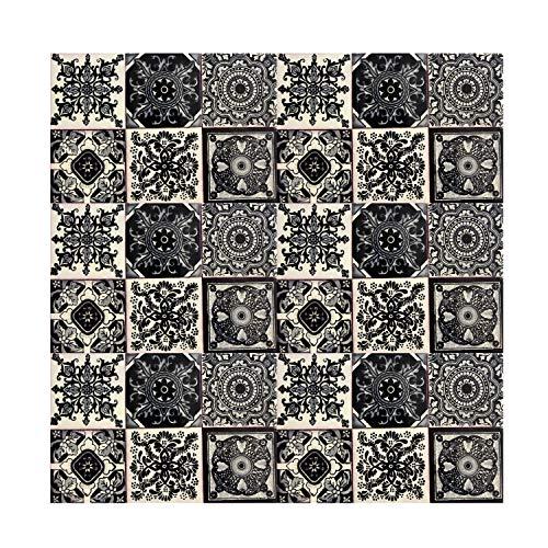 Cerames piastrelle mattonelle nero Idan   30 piezzi 10,5x10,5 cm   Specchio da parete cucina, bagno,WC   Originale, Stile marocchine, spagnole